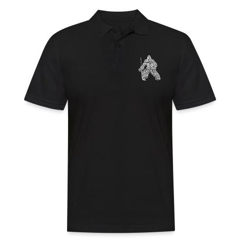 Language of Hockey (Goalie Version, white print) - Men's Polo Shirt