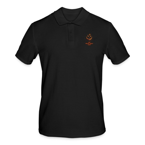 go vegan and nobody gets hurt Halloween - Men's Polo Shirt