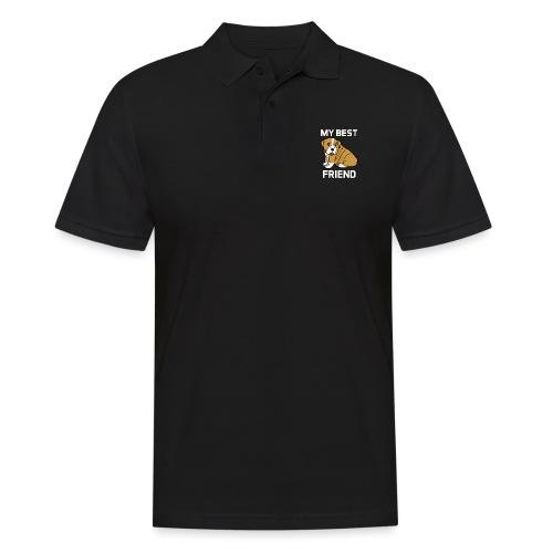 My Best Friend - Hundewelpen Spruch - Männer Poloshirt
