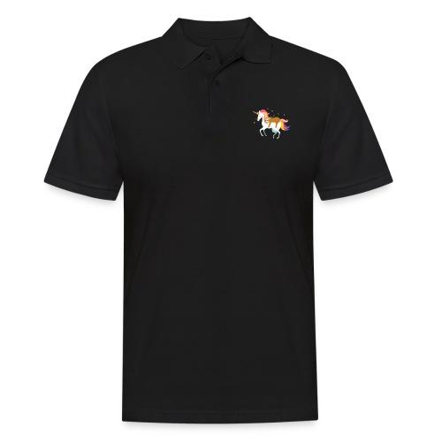 Funny Sloth Riding Unicorn - Männer Poloshirt