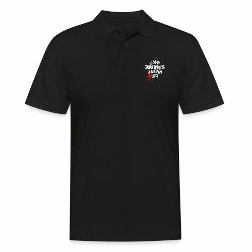 Ist meine SIMME ok? (weißer Text) - Men's Polo Shirt
