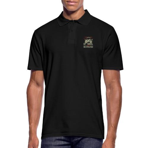 Happiness is away from travel not a destination. - Men's Polo Shirt