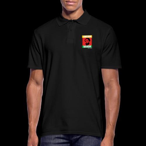 EMPORER SELASSIE red gold green - Männer Poloshirt