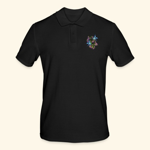 Tropical blue Fish Swimming around plants - Men's Polo Shirt