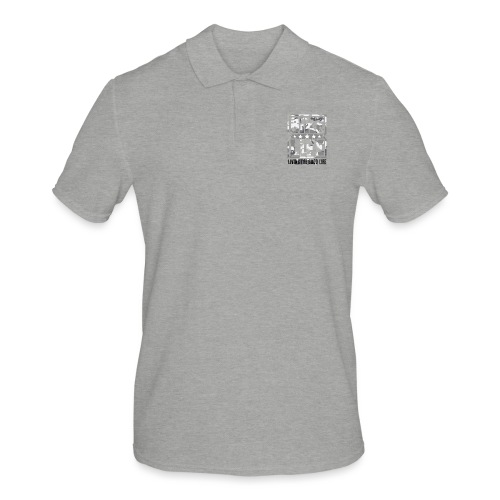 Bikelife White Camo - Men's Polo Shirt