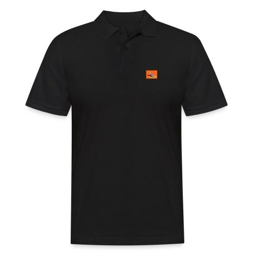 Orange Aubergine - Männer Poloshirt