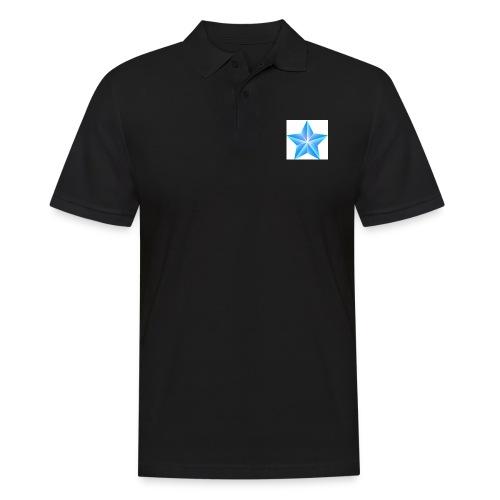 blue themed christmas star 0515 1012 0322 4634 SMU - Men's Polo Shirt