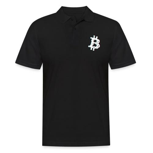 Glitched Bitcoin - Men's Polo Shirt