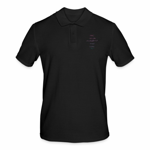 Inhale the Future and Exhale the Past - Men's Polo Shirt