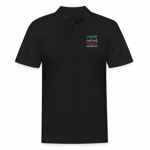 Yoga& Osho& Meditation& Equilibrium - Men's Polo Shirt