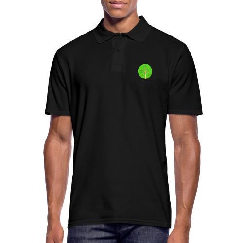 Baum, rund, hellgrün - Männer Poloshirt