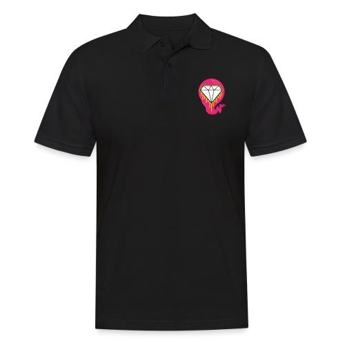 DIAMOND HEART PRINT SHIRT - Men's Polo Shirt