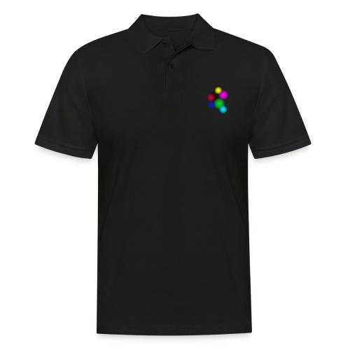 Bunte Punkte - Männer Poloshirt