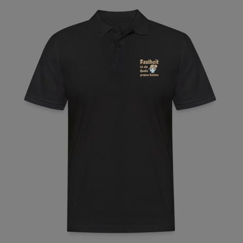 Faulheit - Männer Poloshirt
