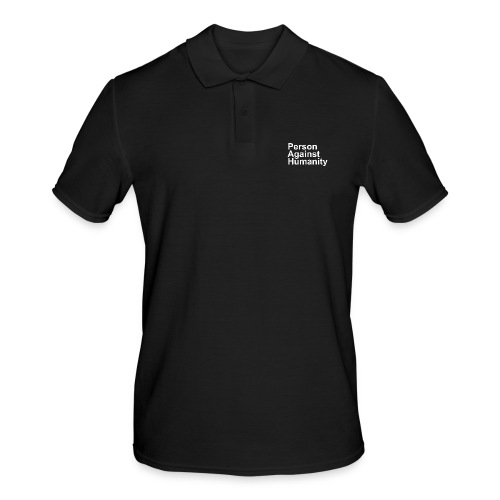PERSON AGAINST HUMANITY BLACK - Men's Polo Shirt