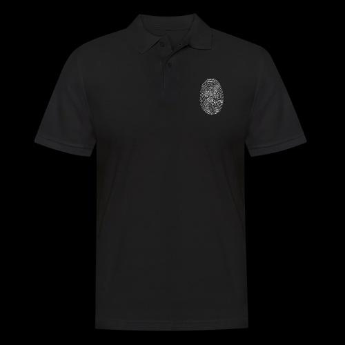 Tintenfisch Fingerabdruck weiss - Männer Poloshirt