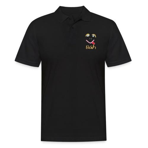 Gesicht Baeh Kontur Hell - Männer Poloshirt