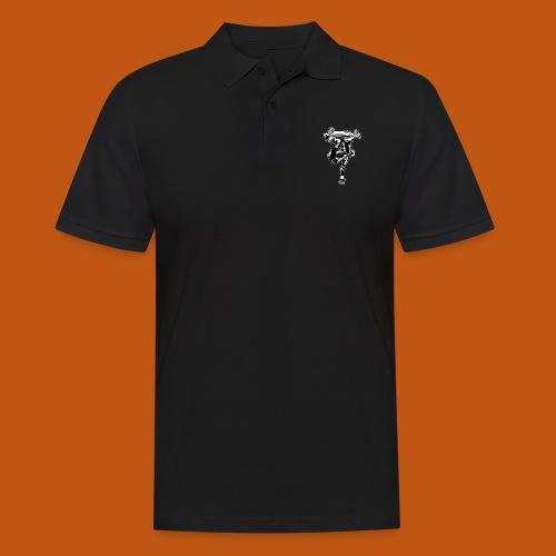 Skater / Skateboarder 03_schwarz weiß - Männer Poloshirt
