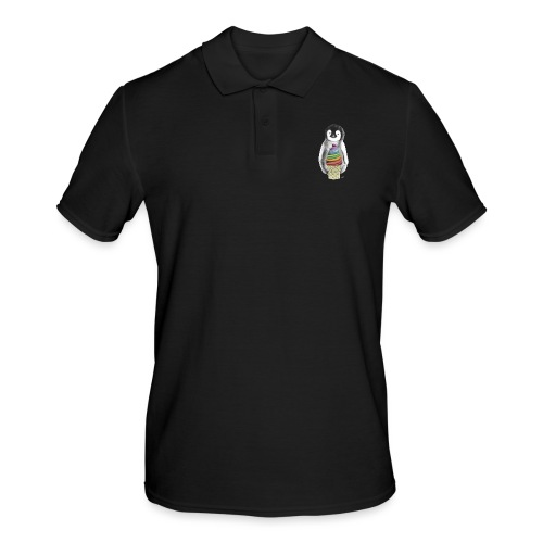 Baby Penguin With Ice Cre - Men's Polo Shirt