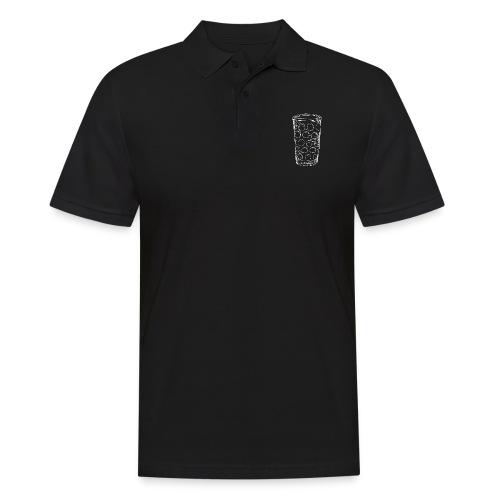 Dubbeglas un kä Blumevase - Männer Poloshirt