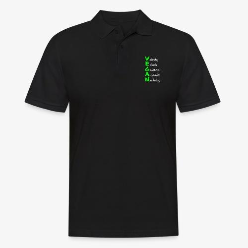 Vegan - Männer Poloshirt