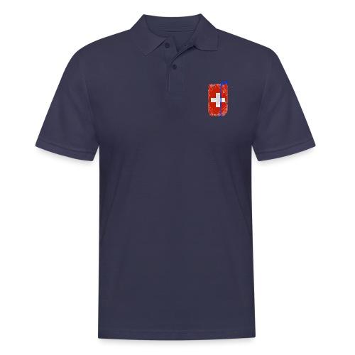 Schweizer Flagge Hockey - Männer Poloshirt