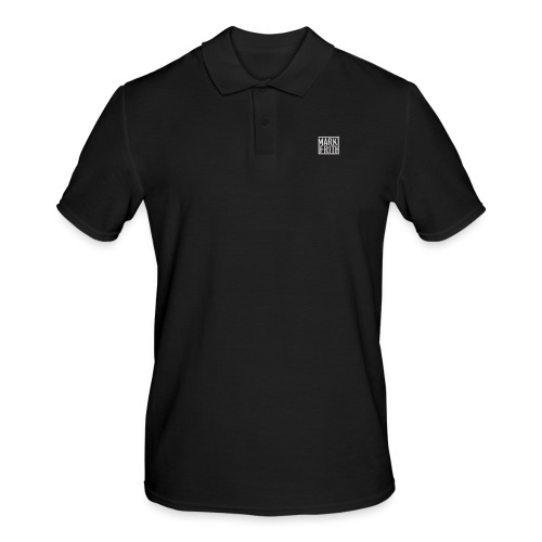 WHITE EMBOSSED LOGO - Men's Polo Shirt