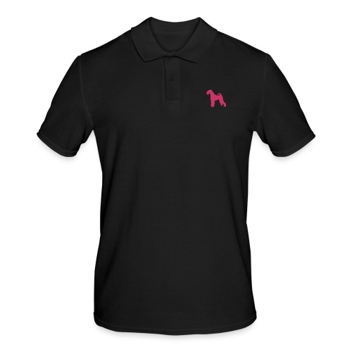PINK Airedale Terrier - Men's Polo Shirt