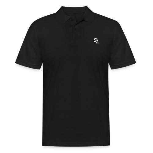 SL Logo Hvit - Poloskjorte for menn