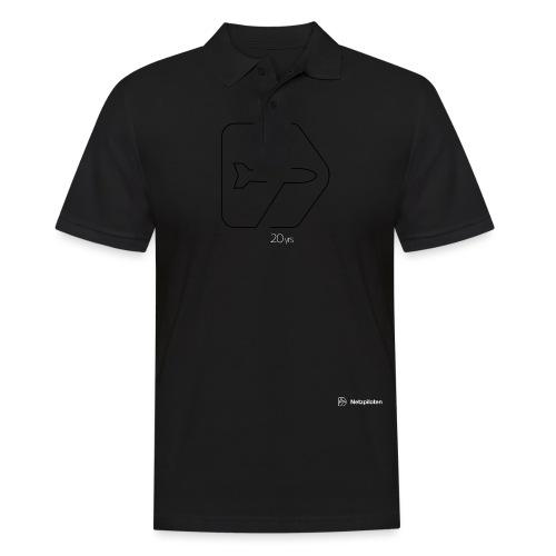 Netzpiloten Logo weiss - Männer Poloshirt