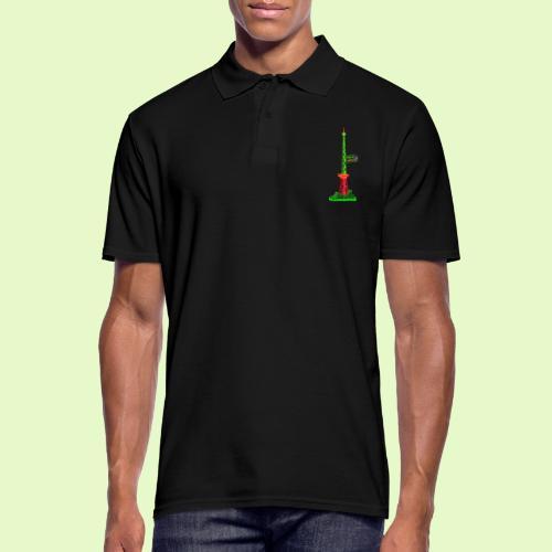 Funkturm / BerlinLightShow / PopArt Style - Männer Poloshirt