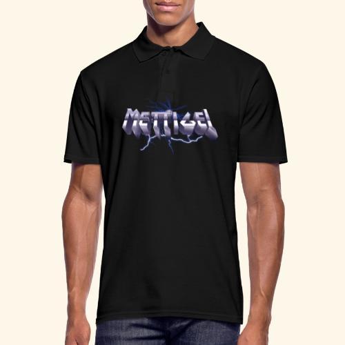 Mettigel T Shirt Design Heavy Metal Schriftzug - Männer Poloshirt