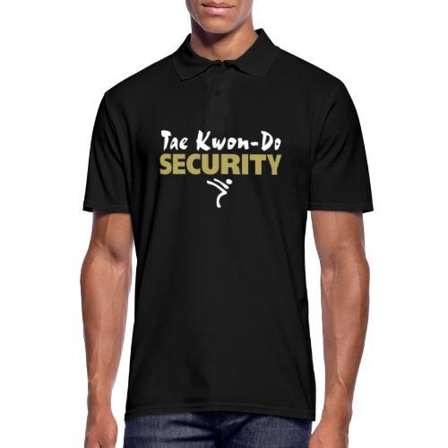 Taekwondo Security white & gold print - Men's Polo Shirt