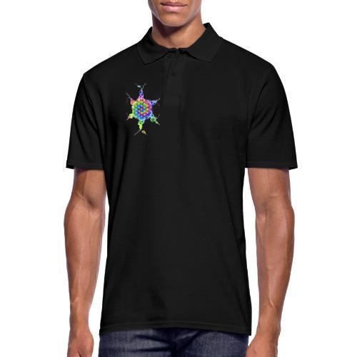 Flower Of Life Neuro Art 4 - Männer Poloshirt
