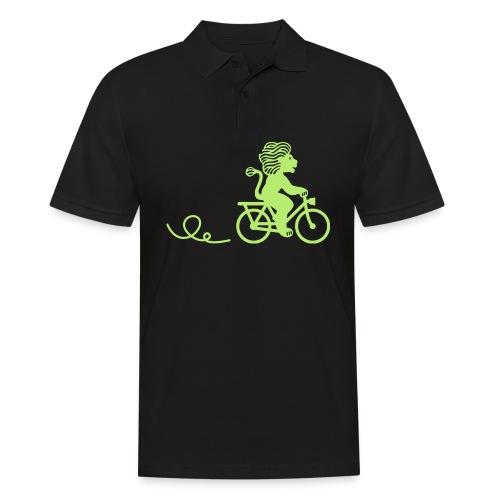 Züri-Leu beim Velofahren ohne Text - Männer Poloshirt