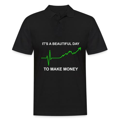 Geld Greys EKG Herzkurve lustig Serien Parodie - Männer Poloshirt