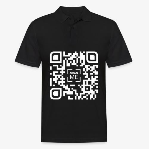 QR code (white) - Men's Polo Shirt