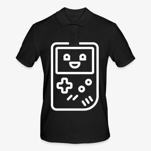 Smiling game console (white) - Men's Polo Shirt
