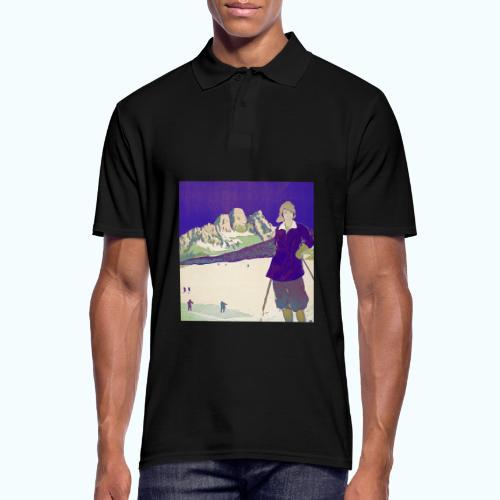 Ski trip vintage poster - Men's Polo Shirt
