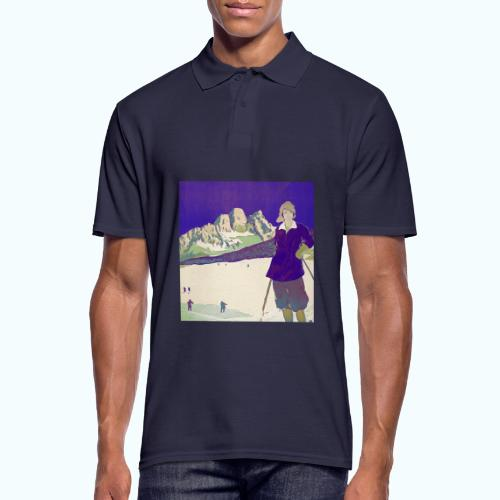 Ski trip vintage poster - Men's Polo Shirt