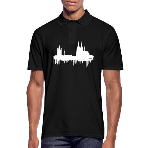Skyline Köln - Weiß - Männer Poloshirt