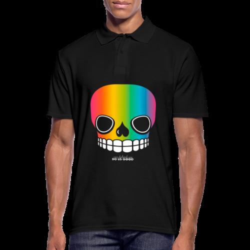 JUST SKULL rainbow - Miesten pikeepaita