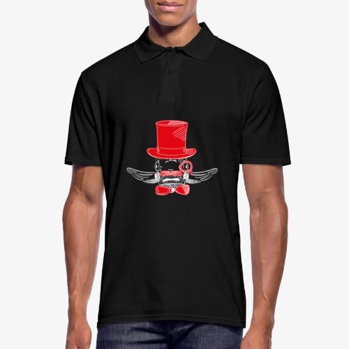 Elegant Hipster Fish - Mustache - Red - Männer Poloshirt
