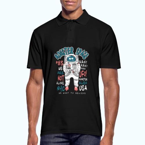 Little Monster In Space 80s Retro - Men's Polo Shirt