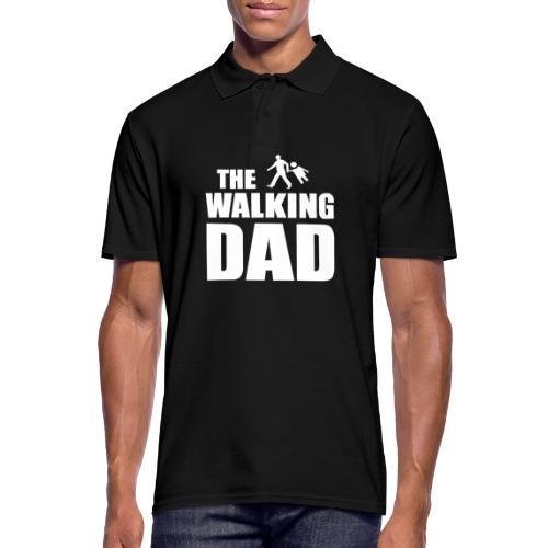 the walking dad weiss auf dem Weg in die lustige - Männer Poloshirt