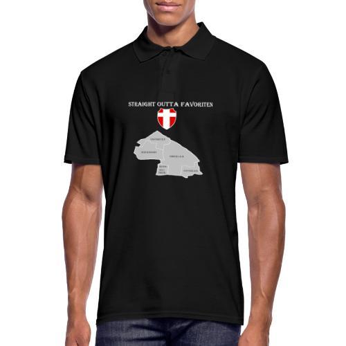 straight outta favoriten wien weiß - Männer Poloshirt
