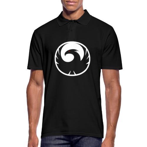 Phönix Logo Schattierung Phoenix weis white rund - Männer Poloshirt