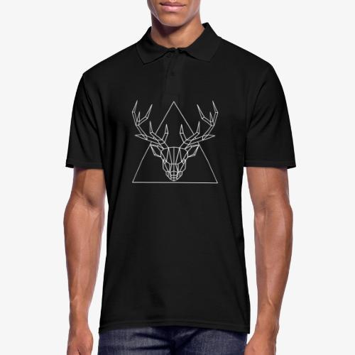 Hirsch Geometrisch - Männer Poloshirt