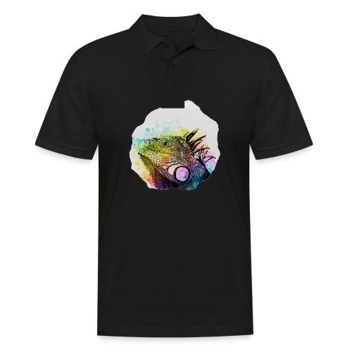 Leguan Aquarell - Männer Poloshirt