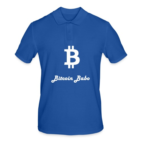 Bitcoin Babo - Männer Poloshirt